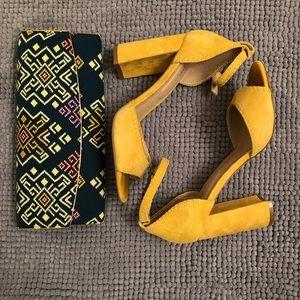 ALDO Yellow Suede Heels